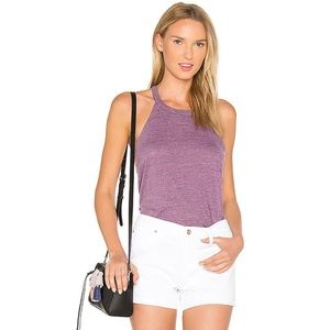 Chaser Purple T-Back Tank Top XS